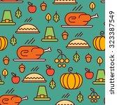 vector seamless thanksgiving... | Shutterstock .eps vector #323387549