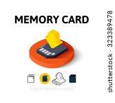 memory card icon  vector symbol ...