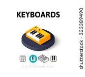 keyboards icon  vector symbol...