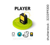 player icon  vector symbol in...
