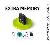 extra memory icon  vector...