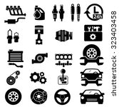 vector car parts set icons  | Shutterstock .eps vector #323403458