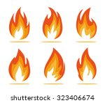 flame anergy | Shutterstock .eps vector #323406674