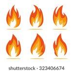 flame anergy | Shutterstock .eps vector #323406674