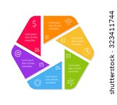 eps10 hexagonal infographic... | Shutterstock .eps vector #323411744
