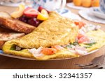 Omelette With Ham  Bacon And...