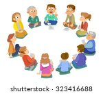the surrounds at conference | Shutterstock .eps vector #323416688