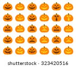 halloween pumpkin vector 30... | Shutterstock .eps vector #323420516