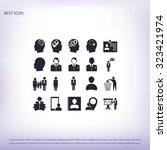 business man icons | Shutterstock .eps vector #323421974