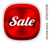 square red sale button on white ... | Shutterstock .eps vector #323425340