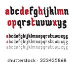 fat rounded line gothic style... | Shutterstock . vector #323425868