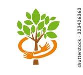 vector abstract safe organic... | Shutterstock .eps vector #323426363