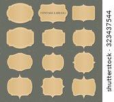 vintage golden label vector set | Shutterstock .eps vector #323437544