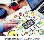 social media social networking... | Shutterstock . vector #323442440