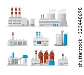 factory industrial buildings... | Shutterstock .eps vector #323448698