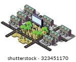 illustration of info graphic... | Shutterstock .eps vector #323451170
