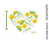 i love ufo. symbol  heart of... | Shutterstock . vector #323453693