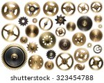 clockwork spare parts. metal... | Shutterstock . vector #323454788