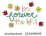 be forever thankful | Shutterstock .eps vector #323458949