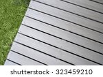close up of composite decking... | Shutterstock . vector #323459210