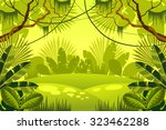 forest. jungle. vector... | Shutterstock .eps vector #323462288