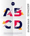 typographic alphabet in a set.... | Shutterstock .eps vector #323462309