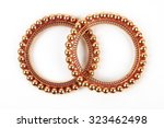 traditional indian gold bangles  | Shutterstock . vector #323462498