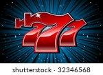 Stock vector lucky seven slot machine font vector illustration 32346568