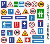 set of traffic signs  isolated... | Shutterstock .eps vector #323467520