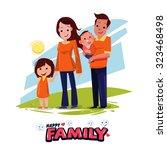 happy family character design... | Shutterstock .eps vector #323468498