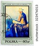 poland   circa 1968  a stamp...   Shutterstock . vector #323476013