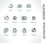 set isolated icons for web....