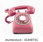retro old red phone | Shutterstock . vector #32348731