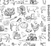 Seamless Pattern With Farm...