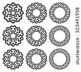 set of round frames. nine... | Shutterstock .eps vector #323491958