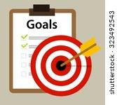 Target Goals Vector Icon...