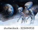 Two Grey Alien In Earth Orbit...