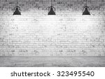 interior of a room with brick... | Shutterstock . vector #323495540