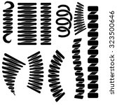 set of springs silhouettes... | Shutterstock . vector #323500646