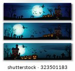 happy halloween horizontal...