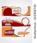 piazza   bakery header  web... | Shutterstock .eps vector #323506733