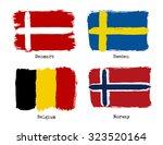 european grunge flags. flags of ... | Shutterstock .eps vector #323520164
