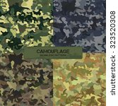 set of original camouflage... | Shutterstock .eps vector #323520308