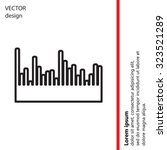 audio equalizer line icon... | Shutterstock .eps vector #323521289
