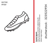soccer boots label   vector... | Shutterstock .eps vector #323522954