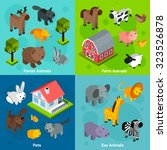 Animals Design Concept Set Wit...