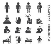 sick icon set | Shutterstock .eps vector #323529938