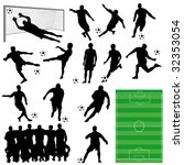 soccer collection | Shutterstock .eps vector #32353054