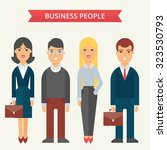 business people vector... | Shutterstock .eps vector #323530793