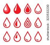 blood drop emblem. logo... | Shutterstock .eps vector #323532230
